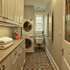 Traditional Laundry Room by DeRhodes Construction