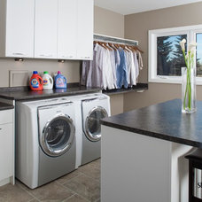 Contemporary Laundry Room by Studio 2.0 Interior Design Consultants