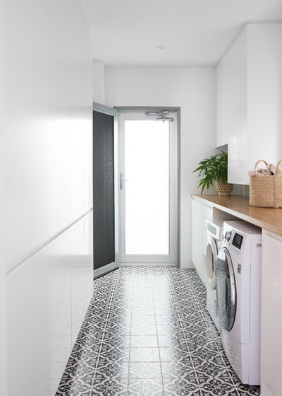 Contemporary Laundry Room by Donna Guyler Design
