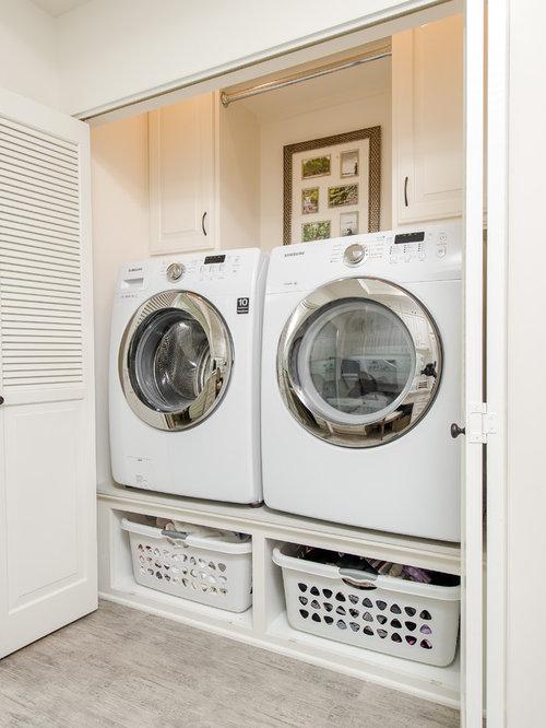 hauswirtschaftsraum mit waschmaschinenschrank ideen f r. Black Bedroom Furniture Sets. Home Design Ideas
