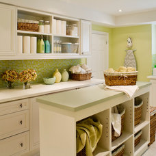 Traditional Laundry Room by Dvira - Interior Design Toronto