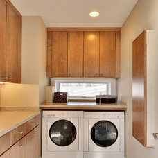 Contemporary Laundry Room by Echelon Custom Homes