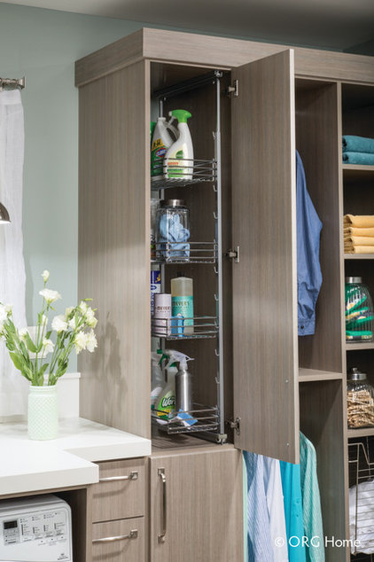 Transitional Laundry Room by EcoNize Closets