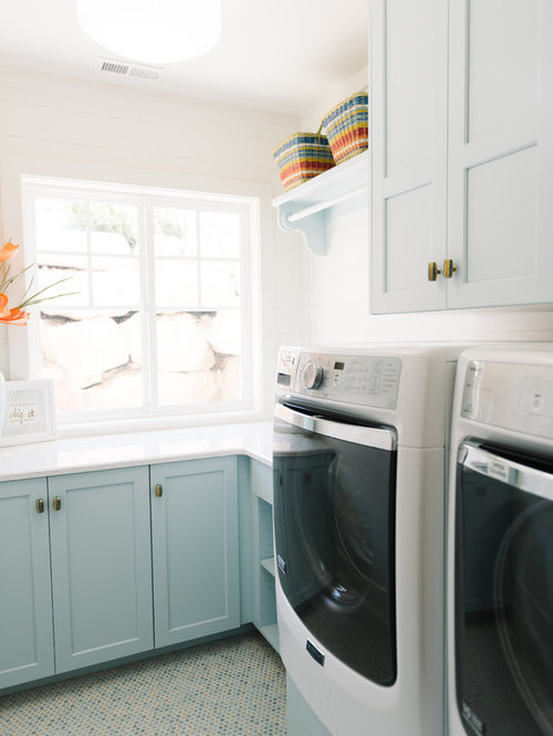 Transitional Accessories And Decor Laundry Room Design