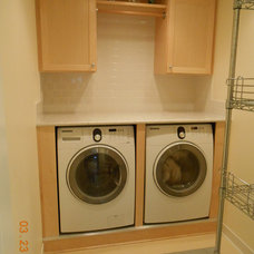 Traditional Laundry Room Laundry Room - Front Loader Washer and Dryer