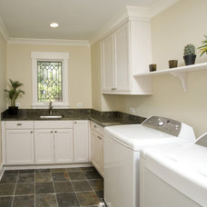 Craftsman Laundry Room by Great Rooms Designers & Builders