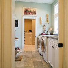 Beach Style Laundry Room by Griggs & Co. Homes Inc.