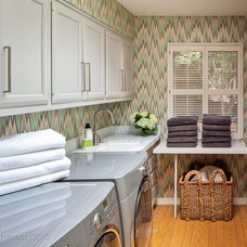 Contemporary Laundry Room by Holly Bender Interiors