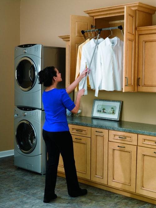 pull down clothes rails home design ideas renovations photos. Black Bedroom Furniture Sets. Home Design Ideas