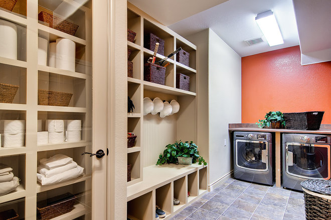 Contemporary Laundry Room by Oakwood Homes