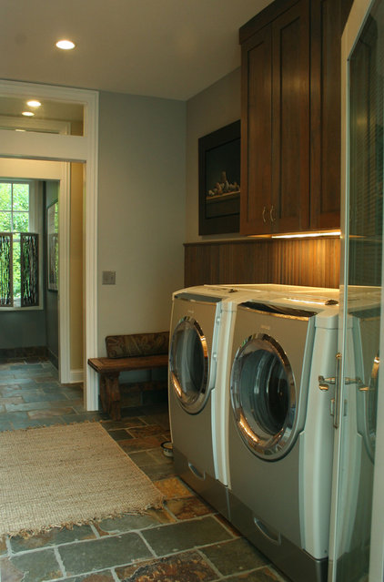 contemporary laundry room by Chelle Design Group