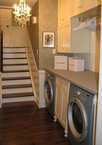 Chandelier In Laundry Room Houzz