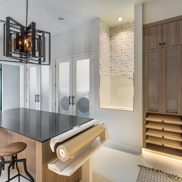 Laundry Room in Contemporary Home for Entertaining