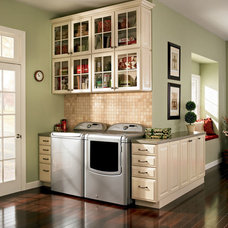 Traditional Laundry Room by Shenandoah Cabinetry
