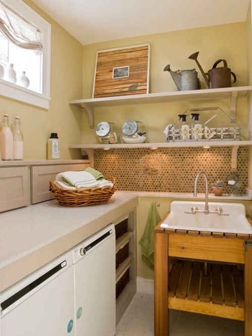 Ledge To Hide Water Cistern And Faucet P Laundry Room Design Ideas ...