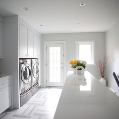 modern laundry room by Jodie Rosen Design