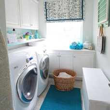 contemporary laundry room by Centsational Girl