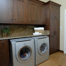 Traditional Laundry Room by Kitchens Unlimited- Karen Kassen, CMKBD