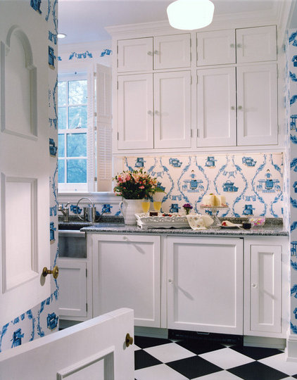 Traditional Laundry Room by Lola Watson Interior Design