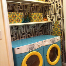 Contemporary Laundry Room Laundry Room Makeover