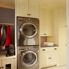 Traditional Laundry Room by CB Construction Company