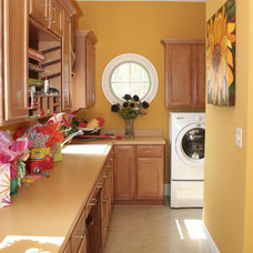 traditional laundry room by Crestline Homes