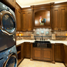 Traditional Laundry Room by Old World Kitchens & Custom Cabinets