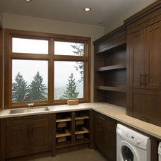 Modern Laundry Room by Old World Kitchens & Custom Cabinets