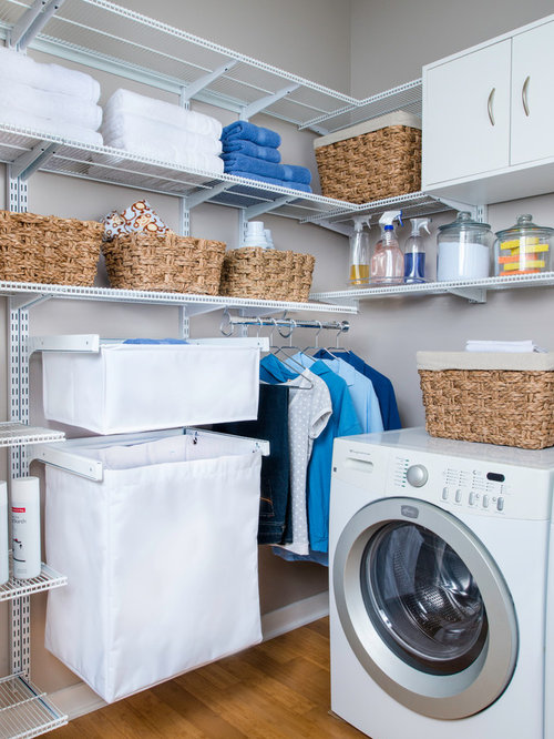Laundry room organization houzz for Room organization