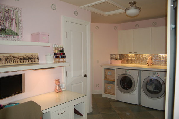 Eclectic Laundry Room by Fabulous Finishes Inc