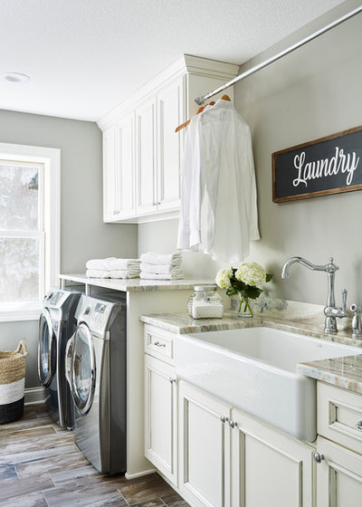 Traditional Laundry Room by R|House Design Build