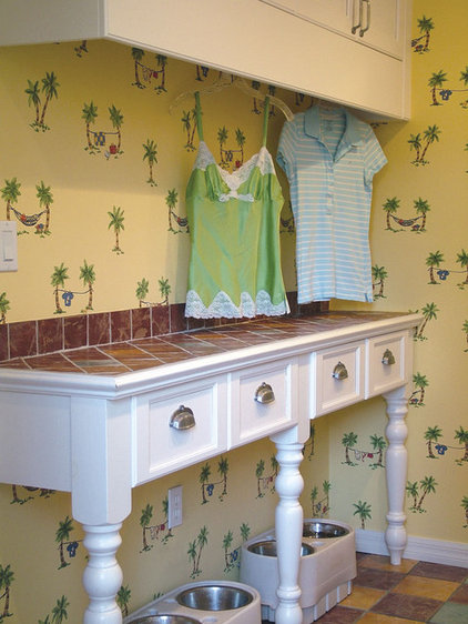 Tropical Laundry Room by Missi Youngblood, Ralph's Interiors