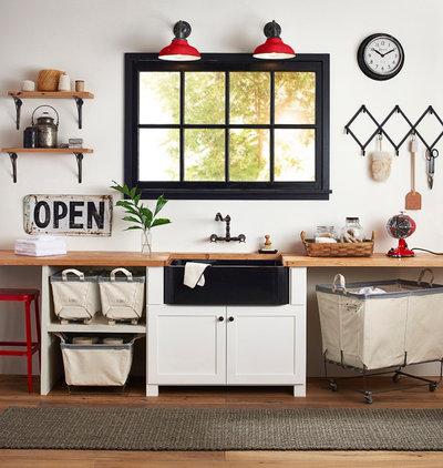 Farmhouse Laundry Room by Rejuvenation