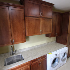 Transitional Laundry Room by Cabinet-S-Top