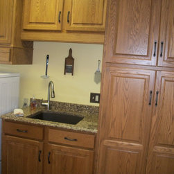 Laundry Countertop Materials : This laundry room was updated using Custom Wood Products cabinets In ...