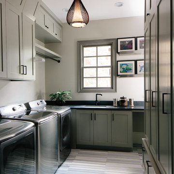 Laundry Room Remodeled In To A Family Hub