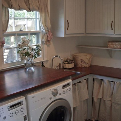 Curtains Laundry Room Design Ideas, Pictures, Remodel and Decor