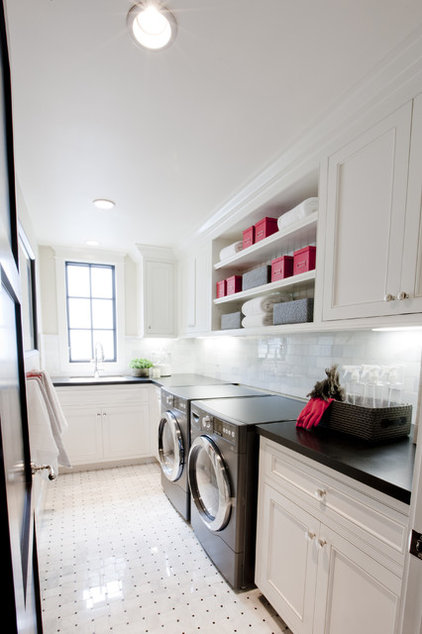 Transitional Laundry Room by Spinnaker Development
