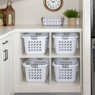 Inspiration for a mid-sized contemporary laundry room remodel in Burlington