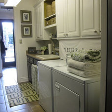 Traditional Laundry Room by The Decorating Duchess
