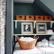 Traditional Laundry Room by The Yellow Cape Cod