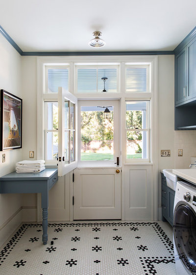 Farmhouse Laundry Room by Tim Barber Ltd Architecture