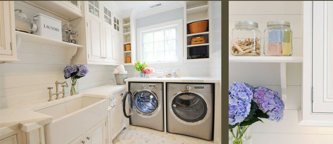 Traditional Laundry Room by TR Building & Remodeling Inc.