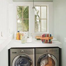 Beach Style Laundry Room by Tracery Interiors