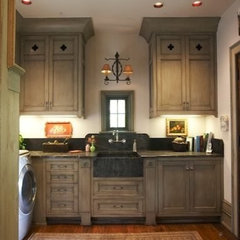traditional laundry room by Tracery Interiors