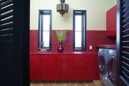 Eclectic Laundry Room by Tracery Interiors