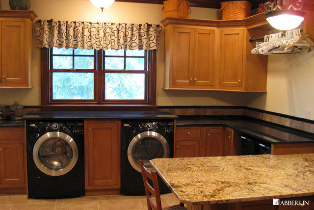 Traditional Laundry Room by Tracy Leah Interior Design