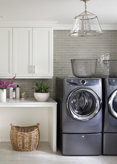 Transitional Laundry Room by Valerie Grant Interiors
