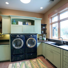 contemporary laundry room by Visbeen Architects