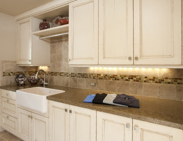 Laundry Room w/ Custom Counters and Tile Backsplash - Saratoga, CA